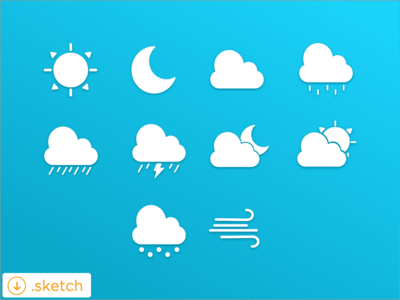 Weather Icon Set Sketch