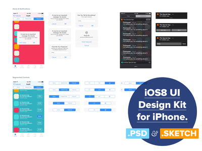 iOS 8 UI Design Kit for Free