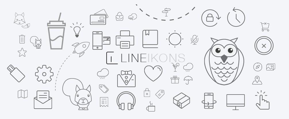400+ Retina Ready Line Icons