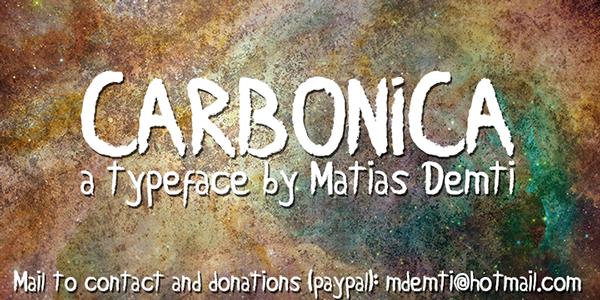 Carbonica - Typeface