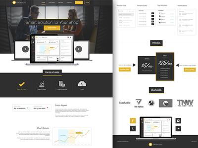 Ekomers - FREE App Landing Page
