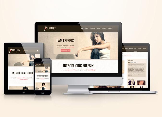 Freebix – Free Responsive HTML Template