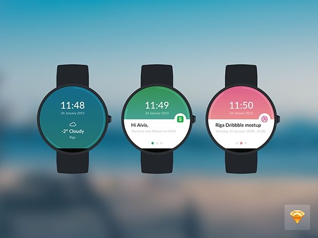 Moto 360 watch (Sketch 3 freebie)