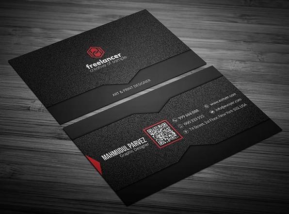 Noise Black Corporate Business Card Template PSD