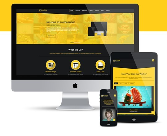 Pluton - Bootstrap Html Template