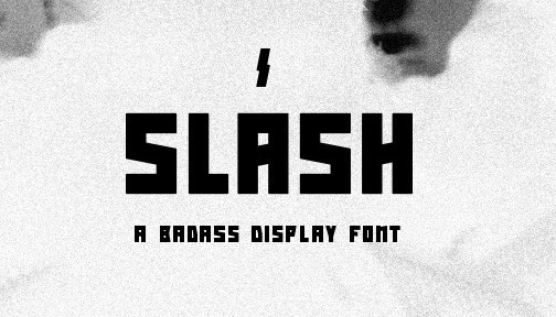 Slash Display Font
