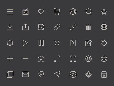 Some Free Icons