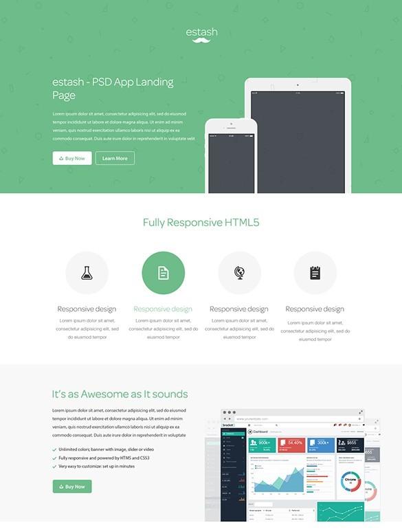 estash - App Landing Page