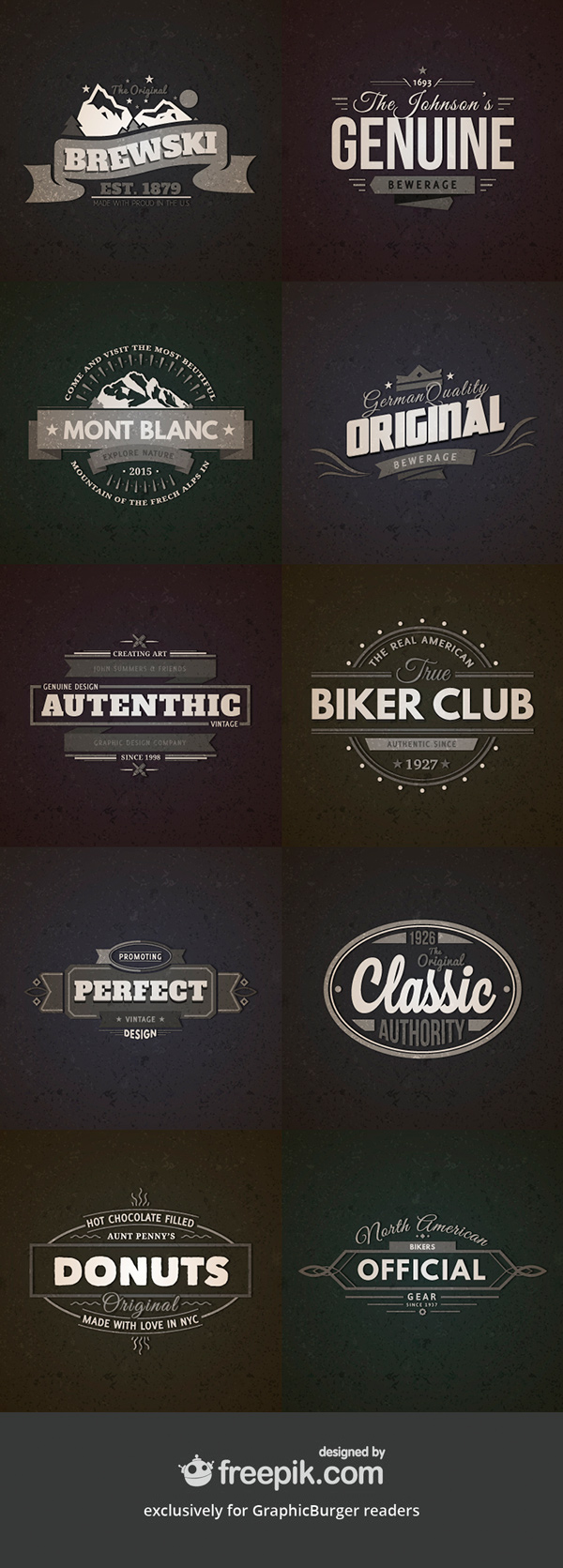 10 Retro Vintage Badges Vol.2