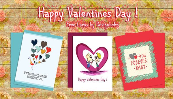 3 Free Happy Valentine's Day Card Designs & Vector Illustrations