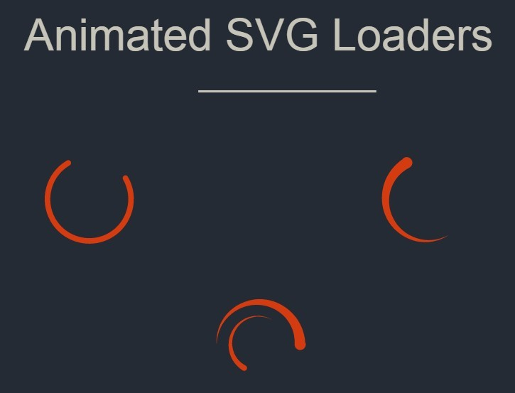 Animated SVG Loaders
