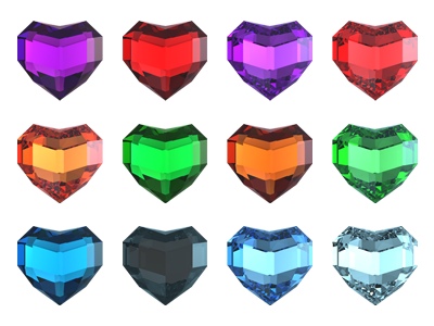 Free Heart Shaped Precious Stones