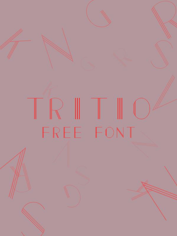Tritio free font