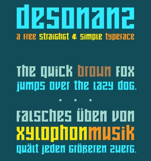 desonanz - free font