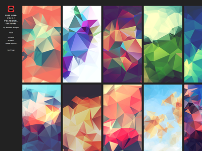 Free low-poly polygonal textures website
