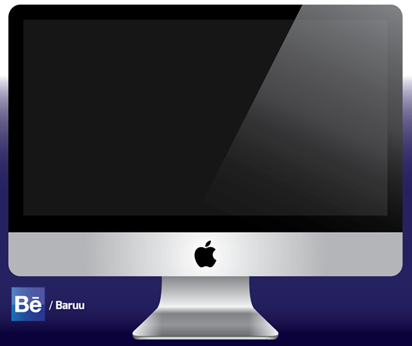 iMac vector illustration
