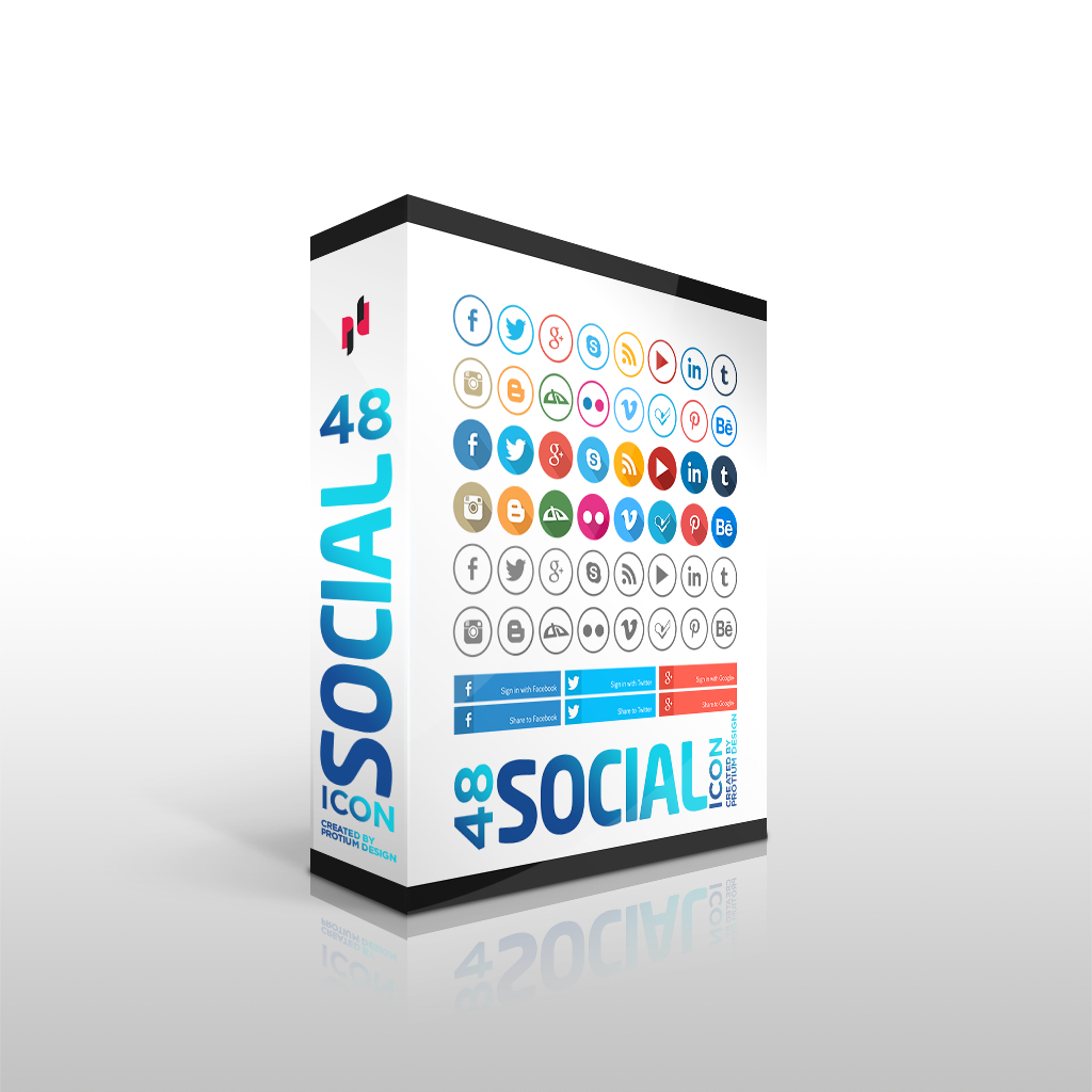 48 SOCIAL MEDIA ICONS
