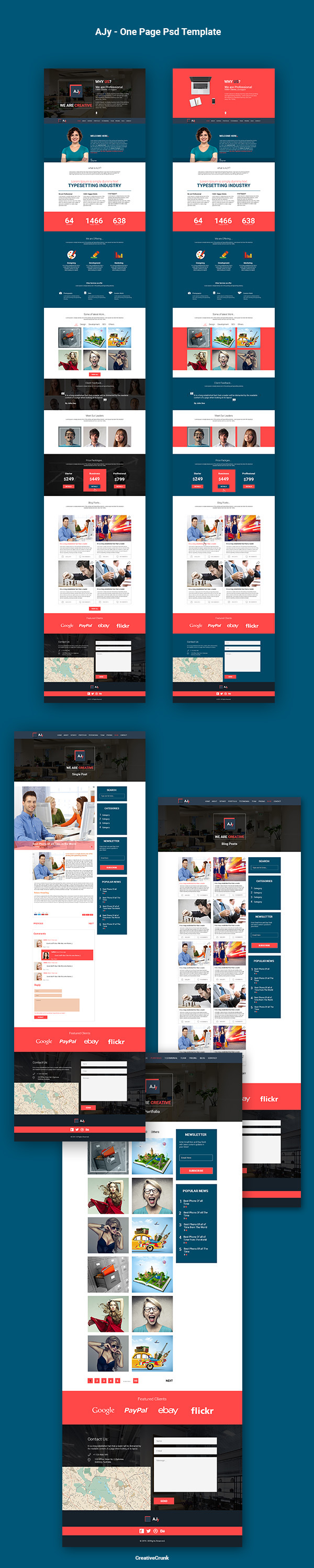 AJy – One Page Psd Template