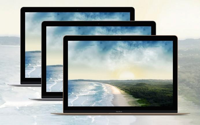 Apple MacBook 2015 Mockup PSD