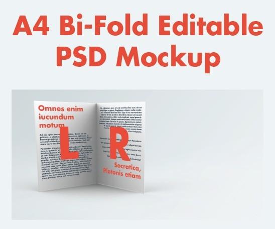 Free Bi-Fold A4 Brochure Leaflet Mockup Pack