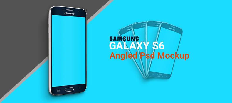 Samsung Galaxy S6 Angled Psd