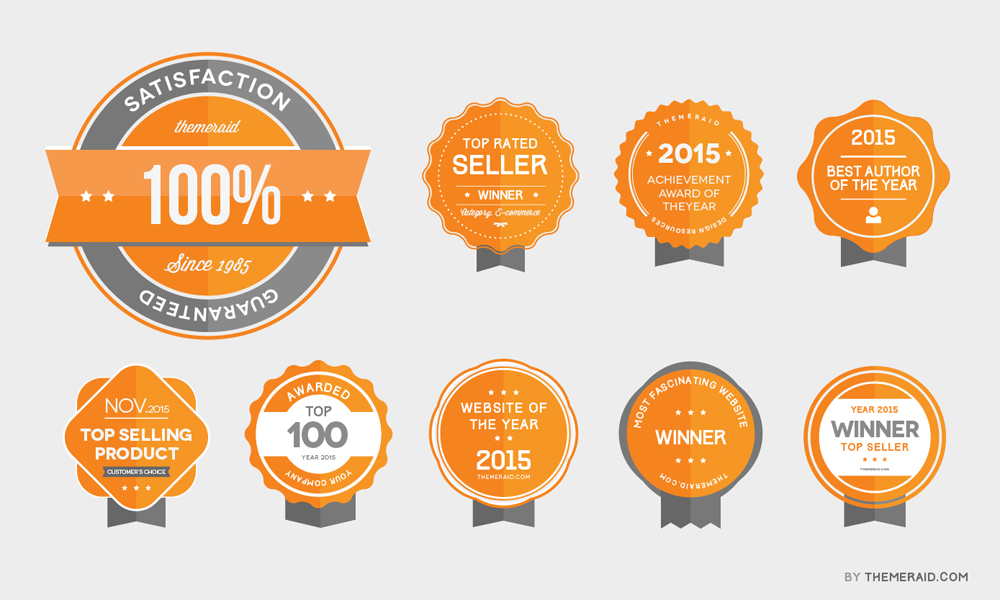 Vector-Psd-Award-Badges