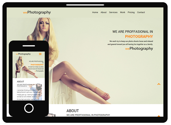 We Photography Responsive Bootstrap Template Free