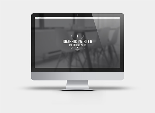 iMac Mockup With Blurred Reflex Screen