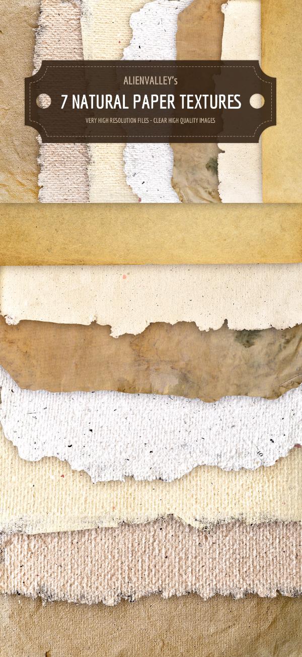 7 Natural Paper Textures
