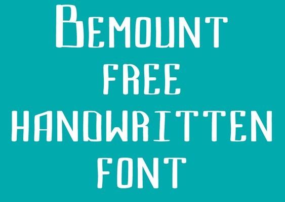 Bemount free handwritten font