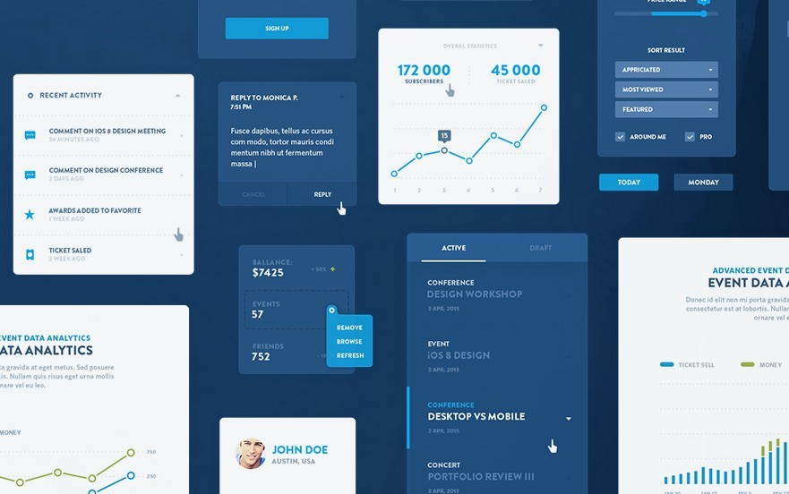 EVENTRAY FREE UI KIT