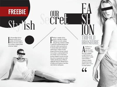 Freebie Tri-fold Fashion Broshure Template