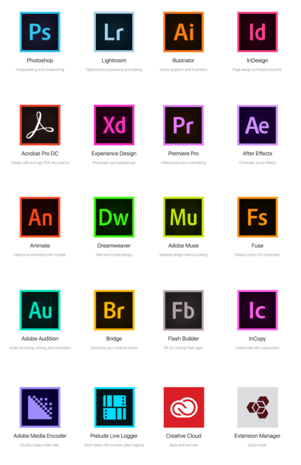 Adobe icon CC 2015 Free