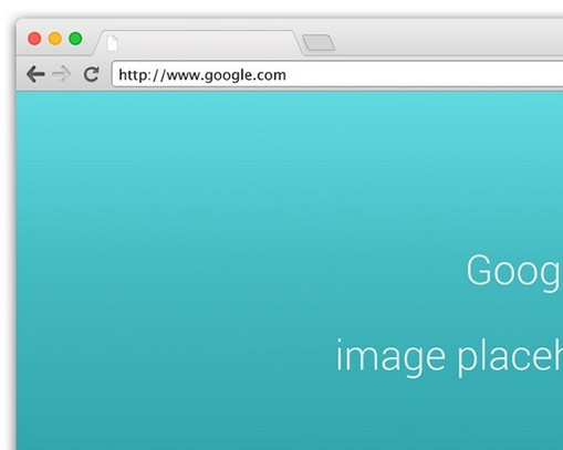 Chrome Browser Mockup