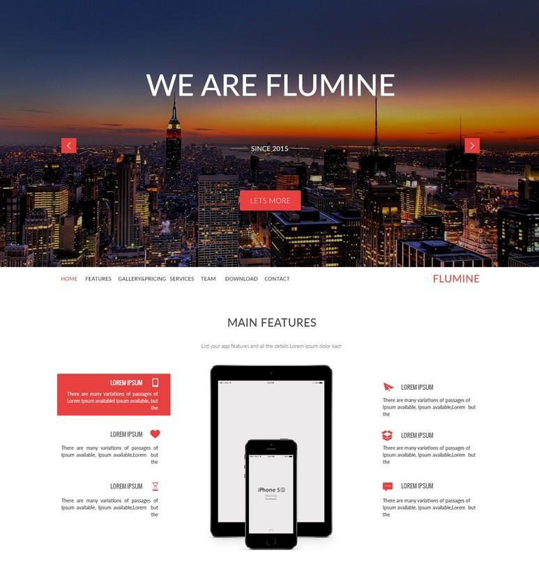 Flumine - Multi-Purpose Landing Page