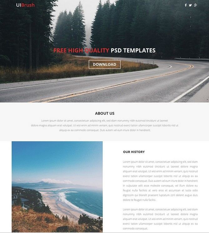 Lander Free PSD And HTML Responsive Template
