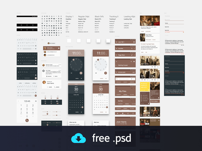 Material Design UI Kit freebie