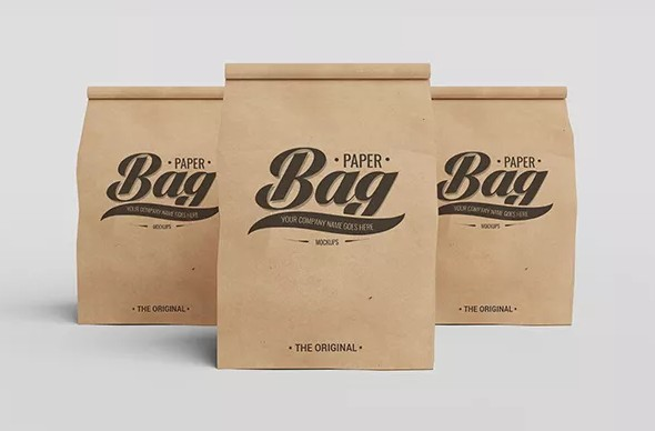 Paper Bag PSD Mockups