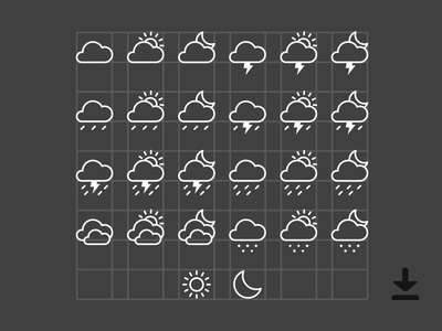 Free Weather Icons (AI)