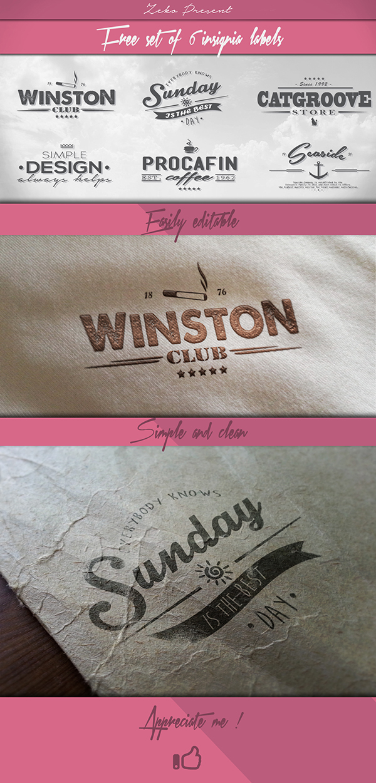 6 Insignia Labels