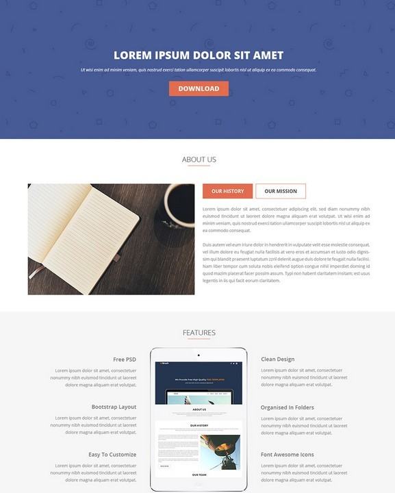 100+ Trendy New Landing Page & Single Page Website/APP PSD ...