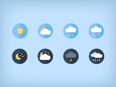 Free weather flat icons