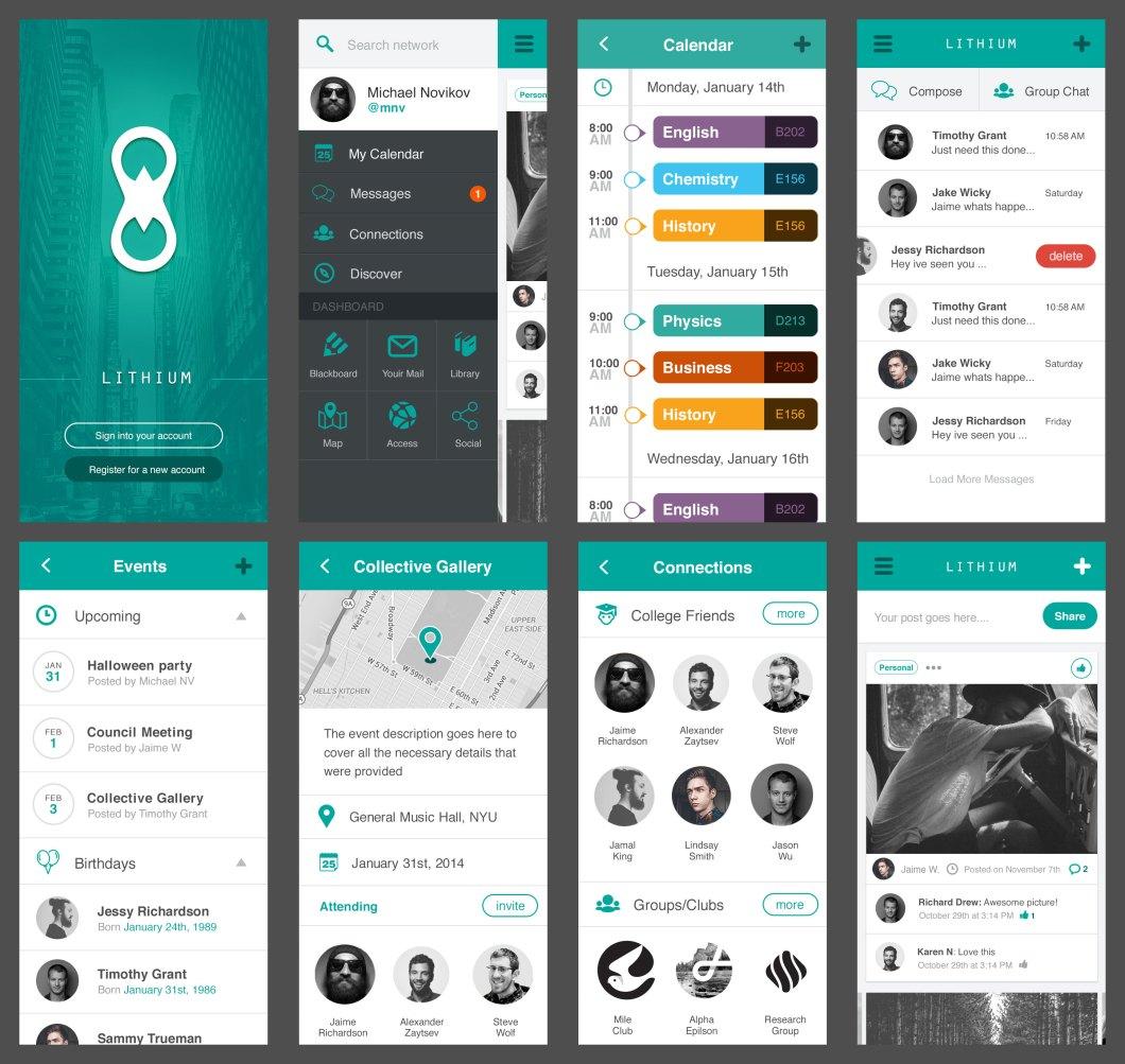 Lithium Free Mobile UI Kit