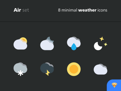 8 minimal weather icons