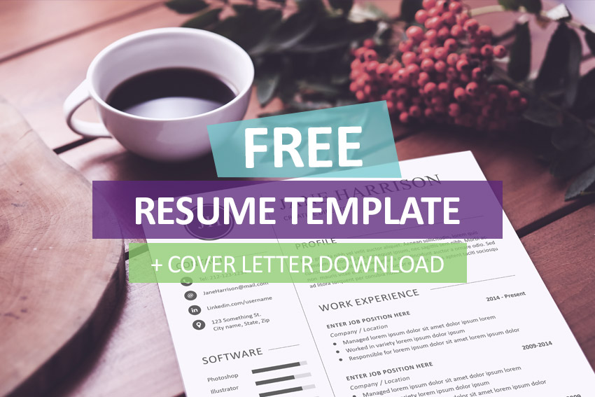 free resume template and cover letter - Free Cover Letter For Resume Template