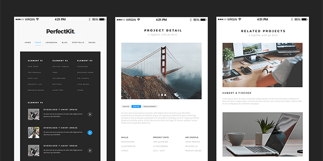 PerfectKit – modern UI kit (desktop & mobile ready)
