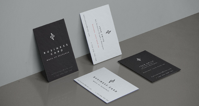 Psd Business Card Mock-Up Vol32