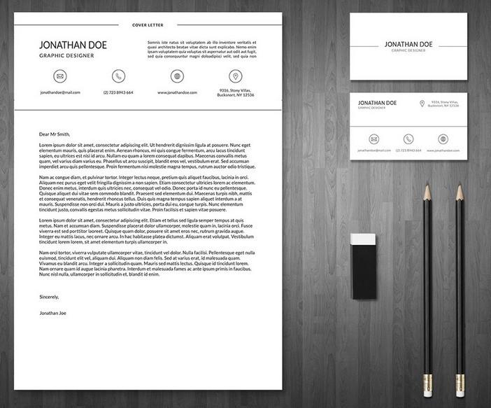 3-Piece Resume + Business Card Template