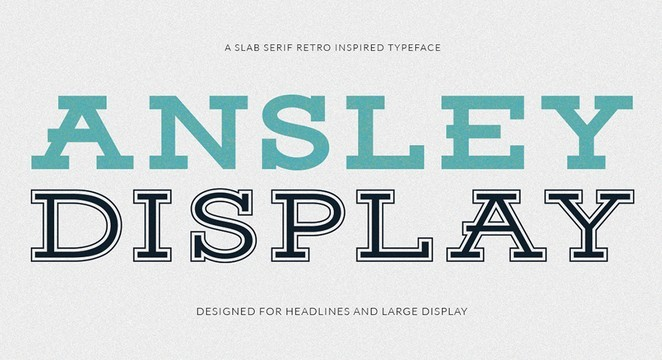 Ansley Display - Free Font