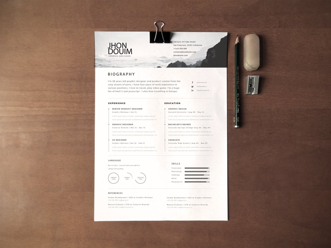 130 new fashion resume cv templates for 365 web resume psd gift